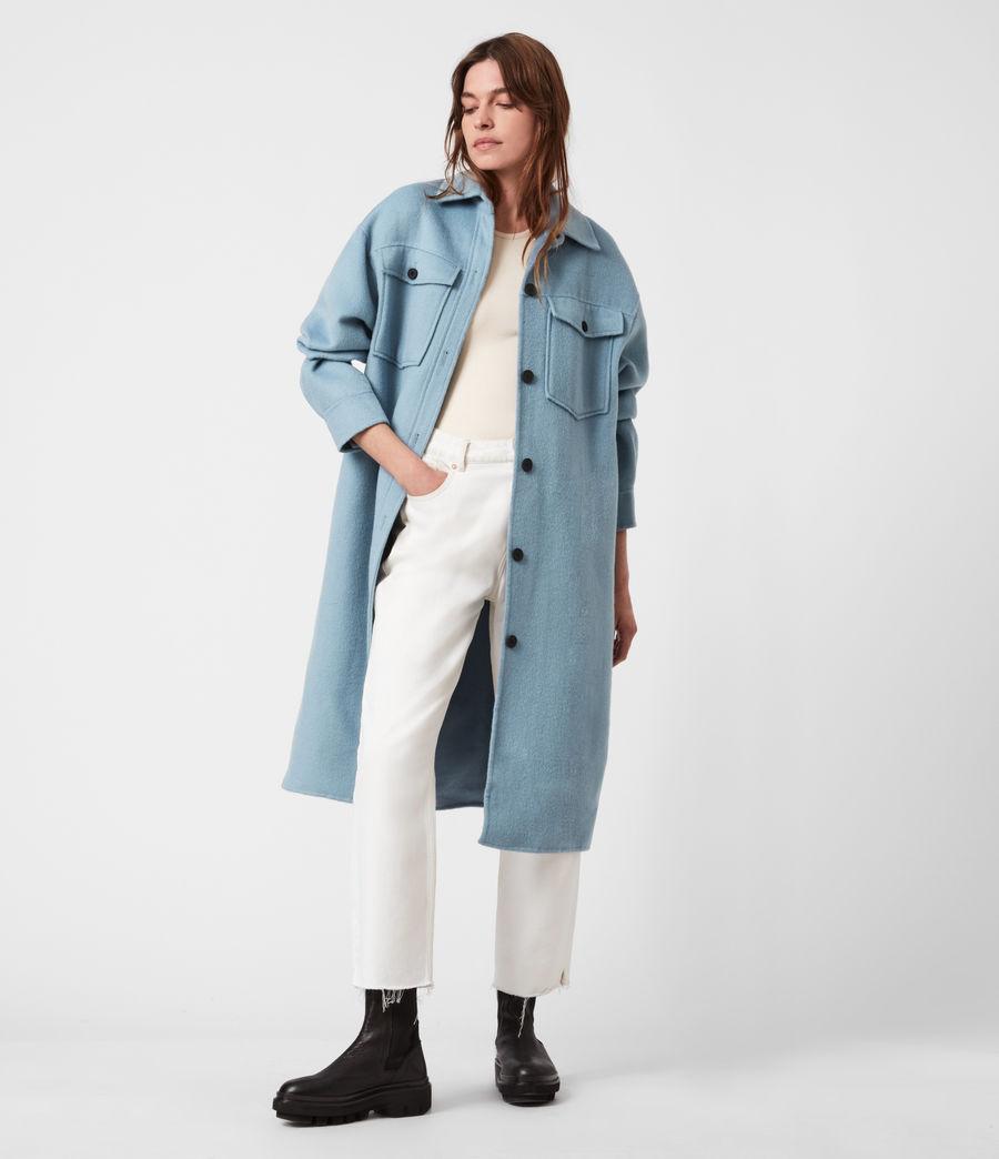 Women's Edith Coat (fern_blue) - Image 1