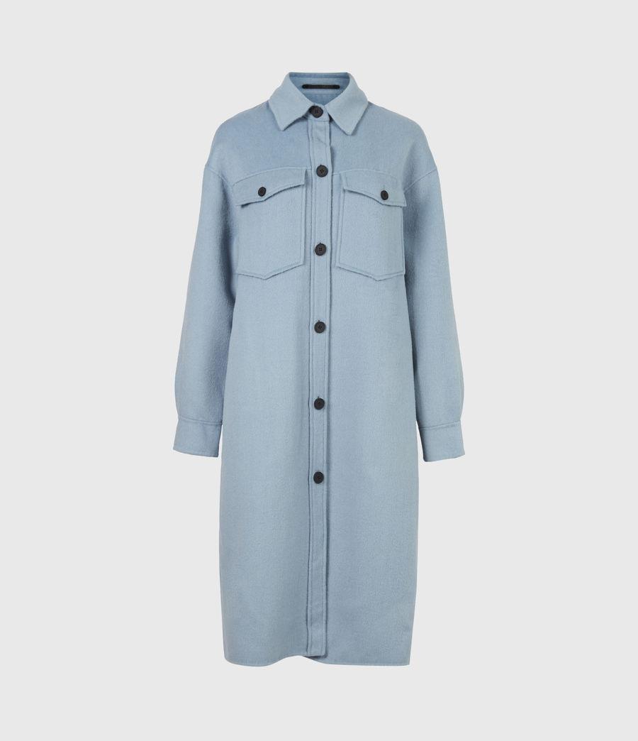 Women's Edith Coat (fern_blue) - Image 2
