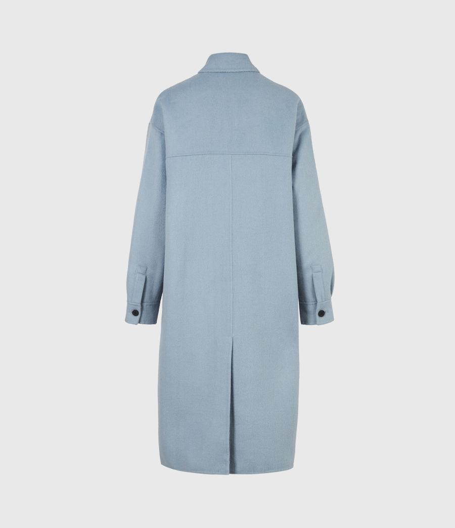 Women's Edith Coat (fern_blue) - Image 3