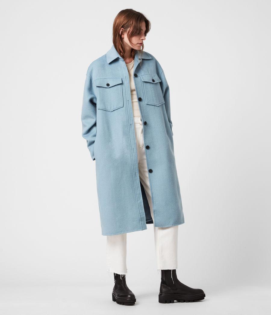 Women's Edith Coat (fern_blue) - Image 6