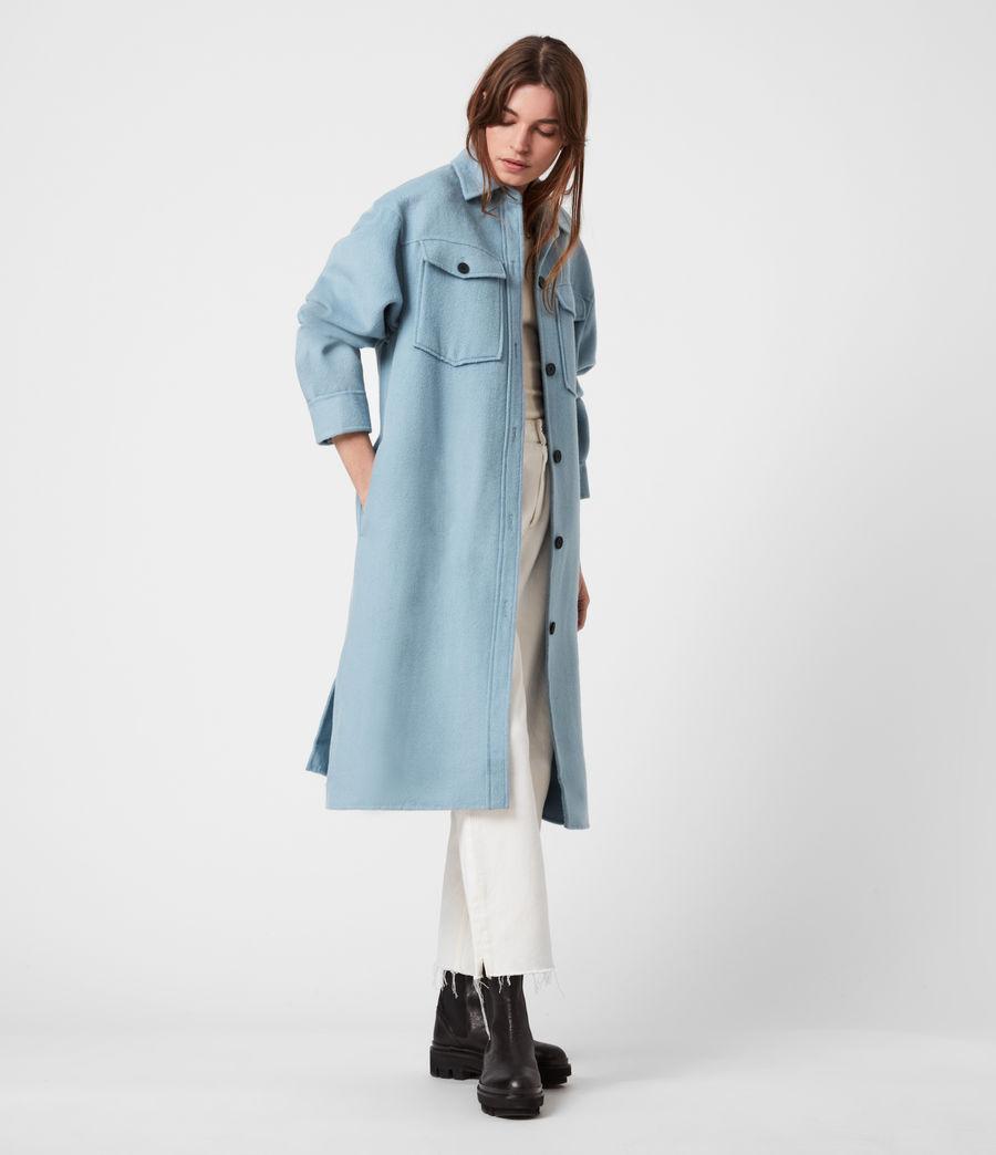 Women's Edith Coat (fern_blue) - Image 7