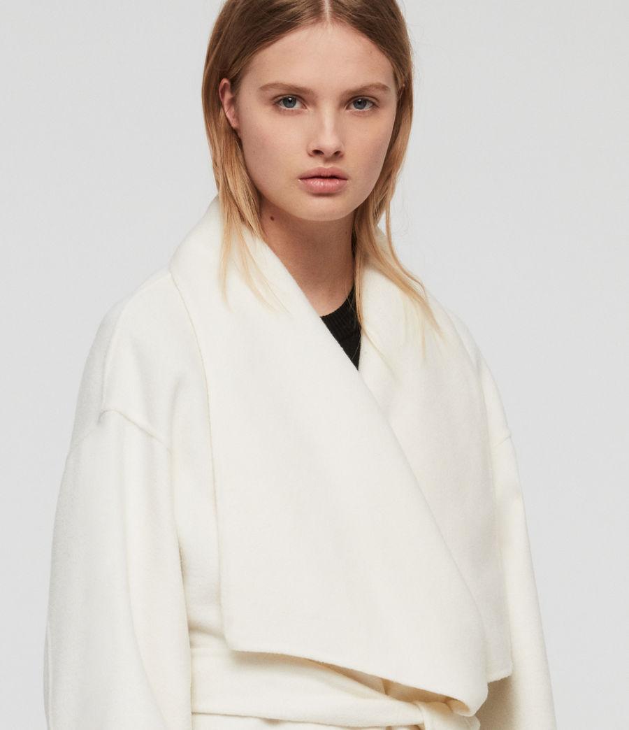 Womens Adalee Coat (ecru_white) - Image 2