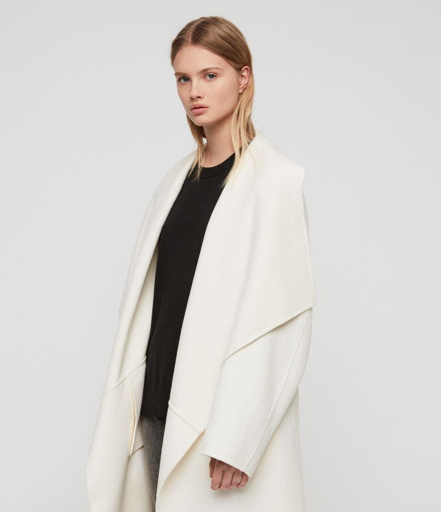 Womens Adalee Coat (ecru_white) - Image 3