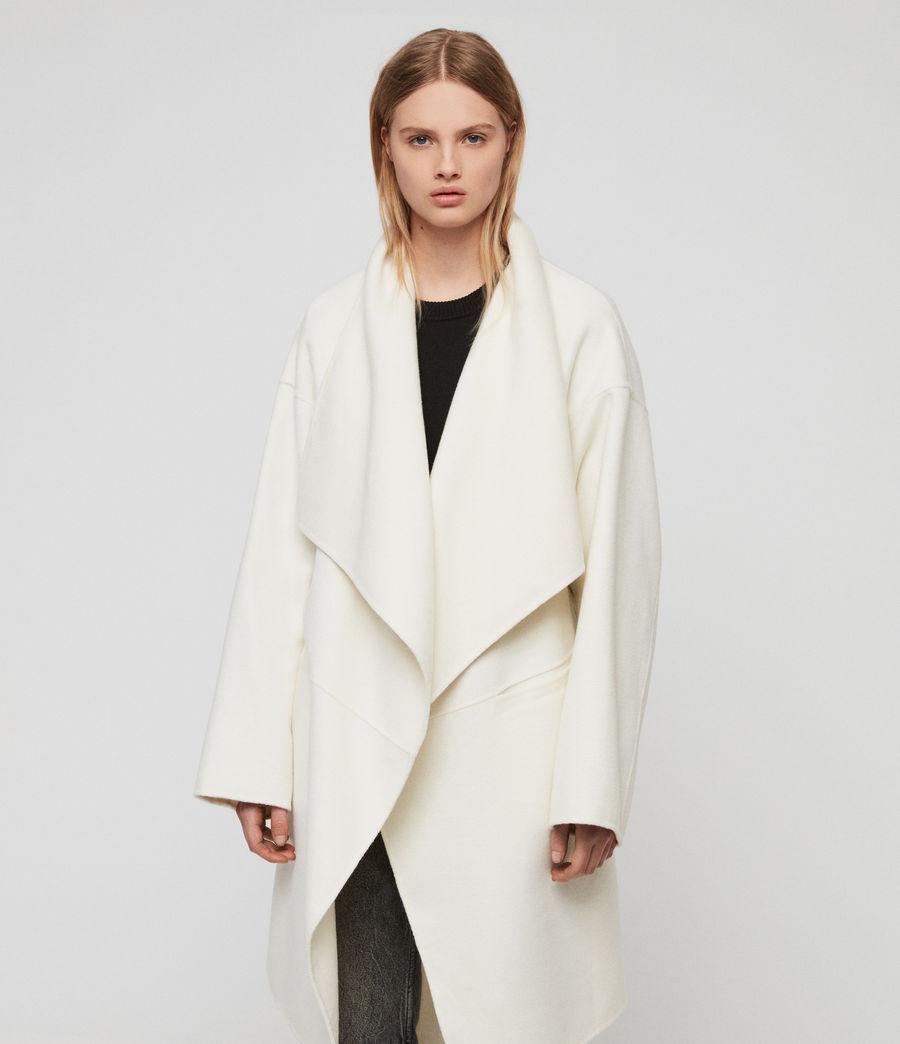 Womens Adalee Coat (ecru_white) - Image 4