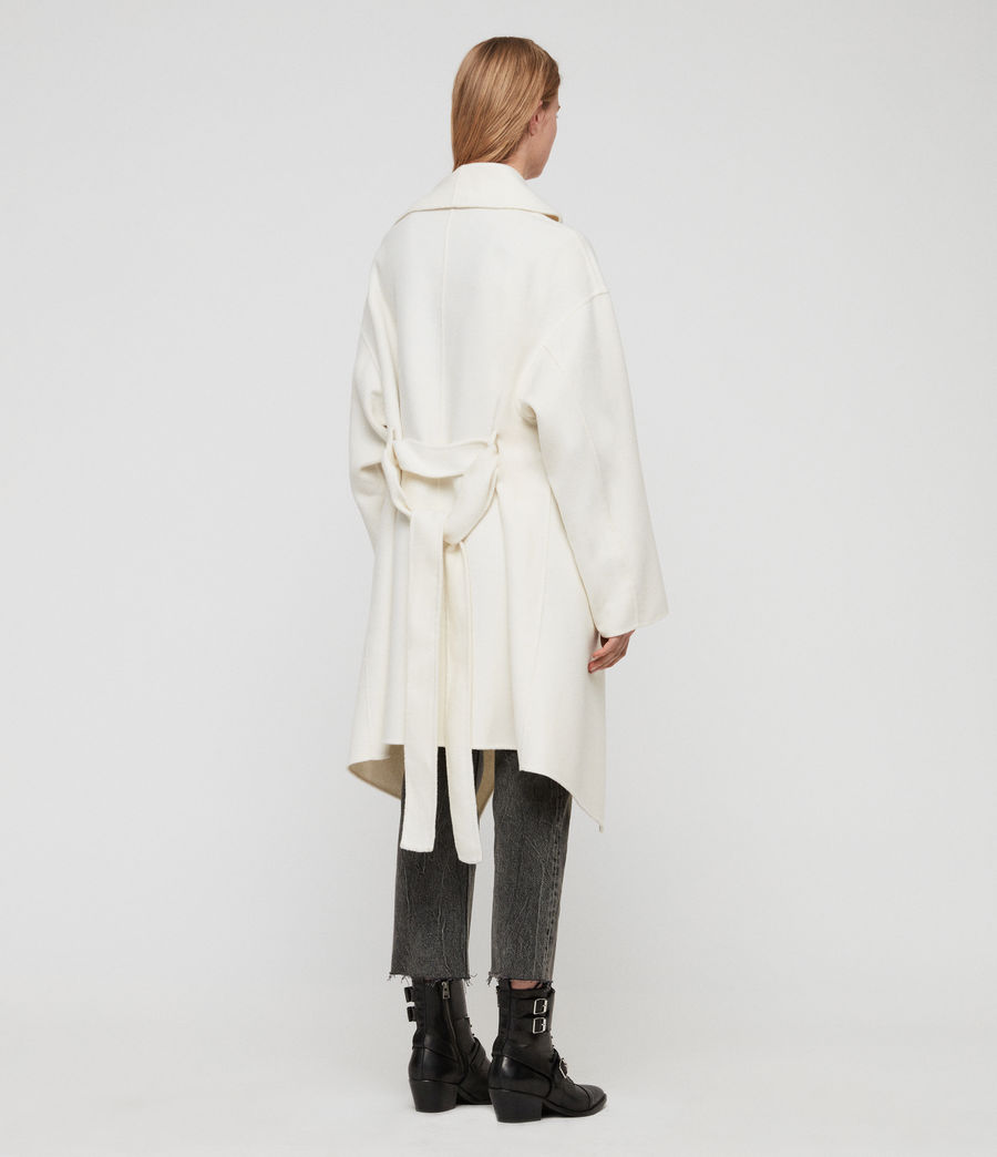 Womens Adalee Coat (ecru_white) - Image 5