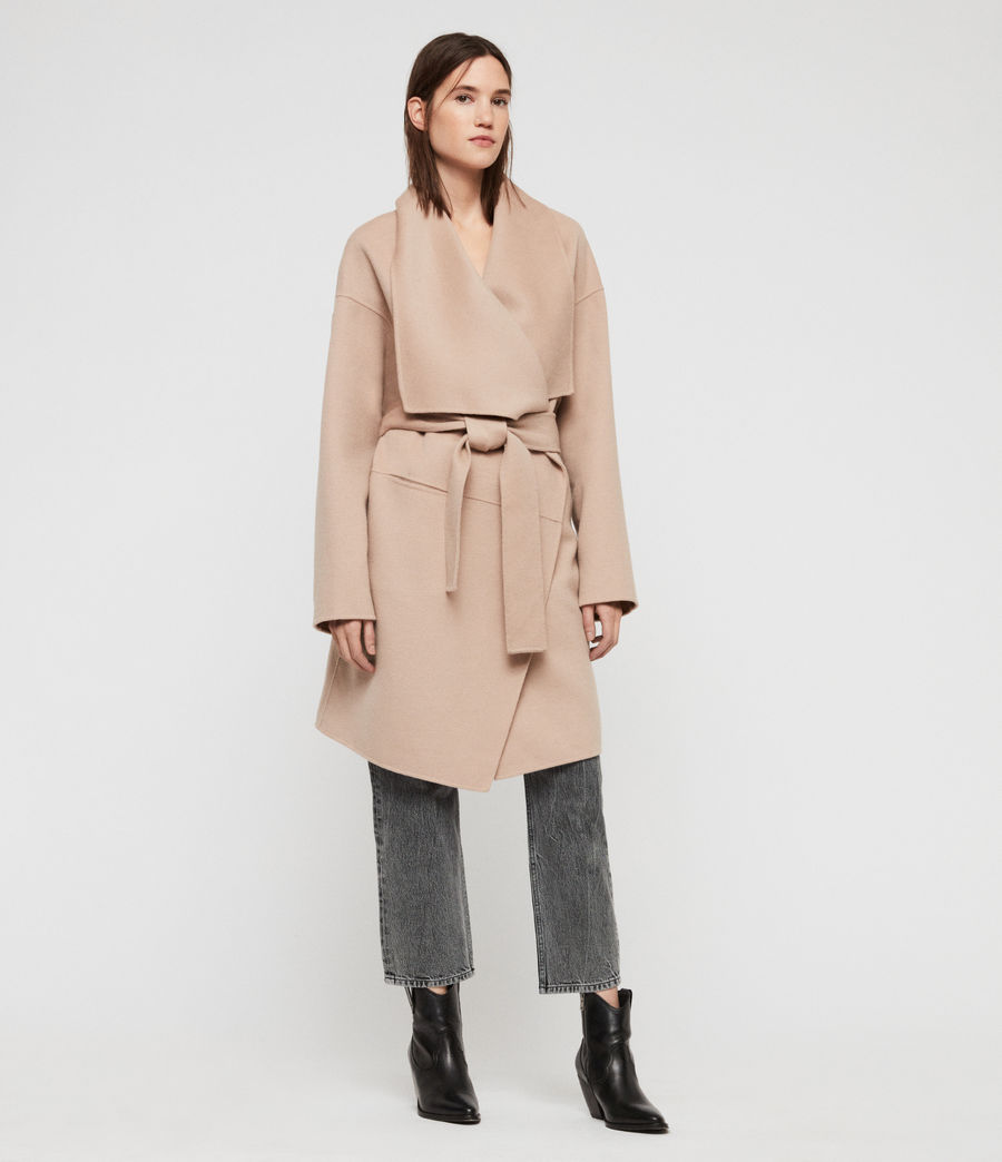 Womens Adalee Coat (oatmeal_brown) - Image 4