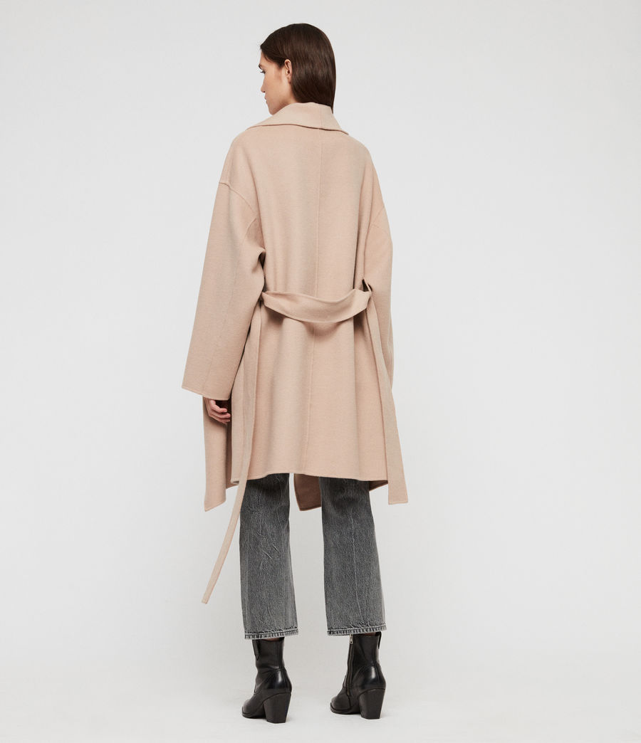 Womens Adalee Coat (oatmeal_brown) - Image 7