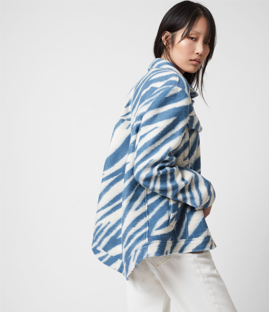 Womens Faye Jacket (blue_white) - Image 4