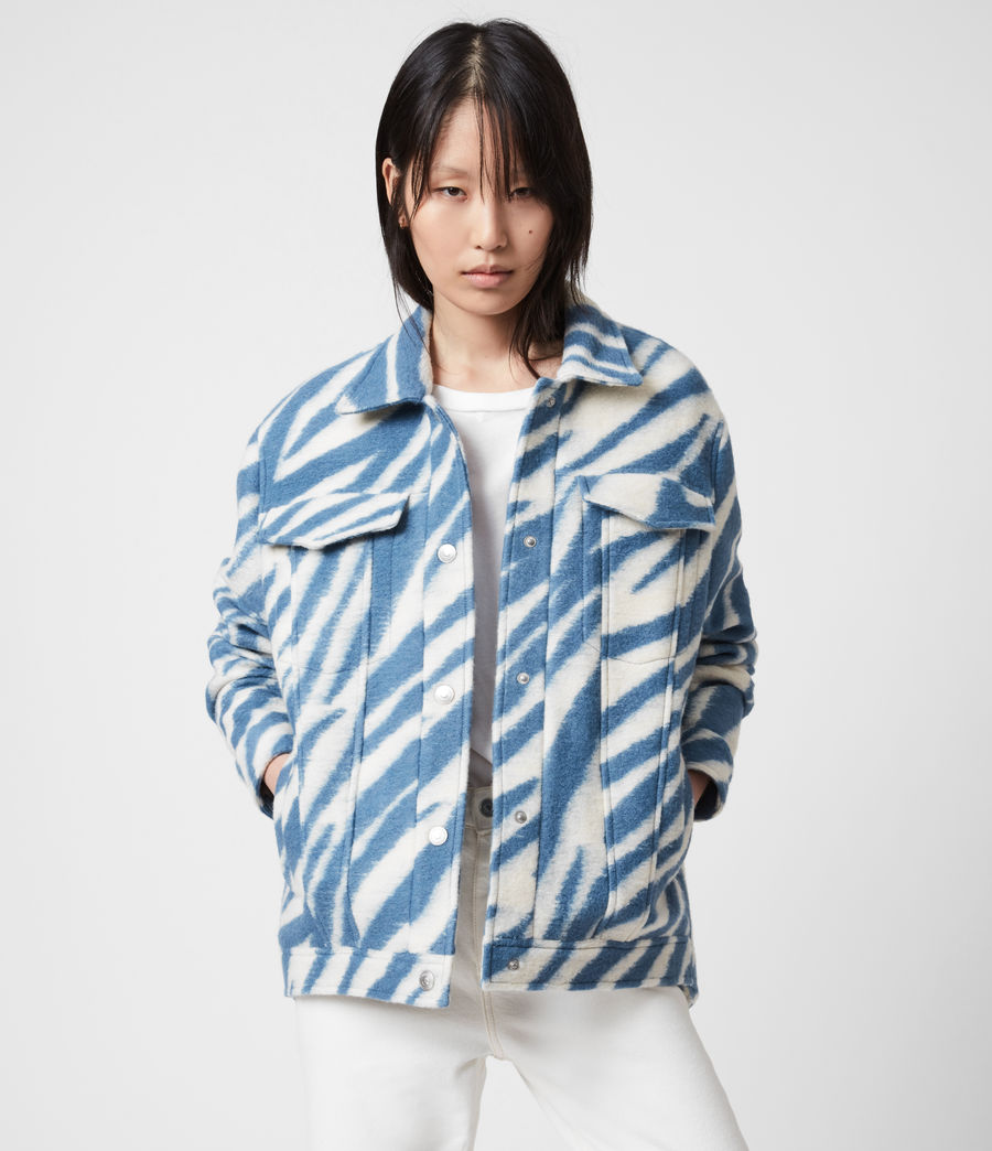 Womens Faye Jacket (blue_white) - Image 5