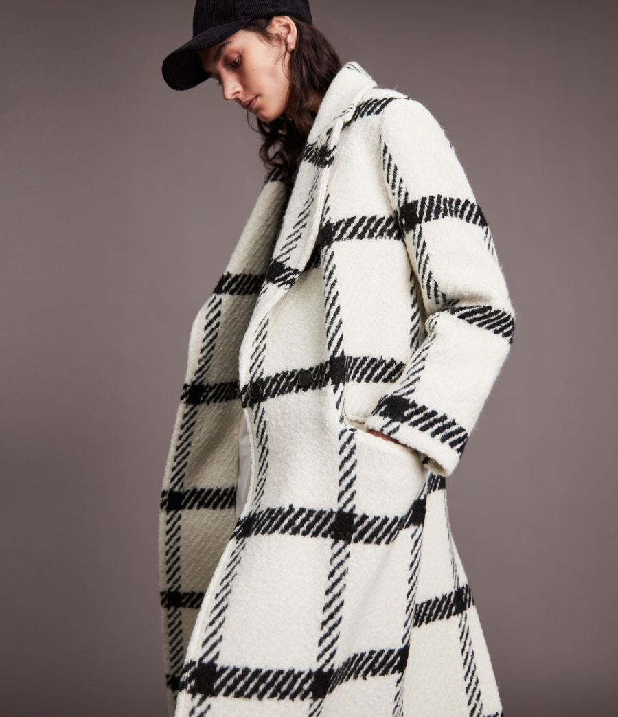 Damen Mabel Check Coat (black_white) - Image 2