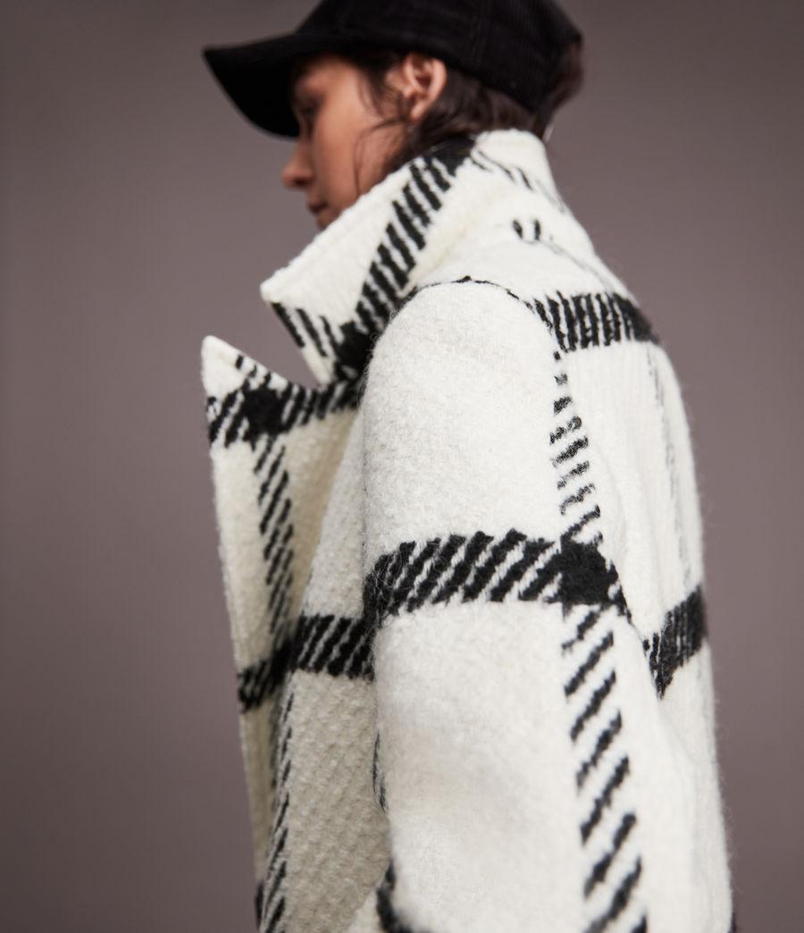 Damen Mabel Check Coat (black_white) - Image 5