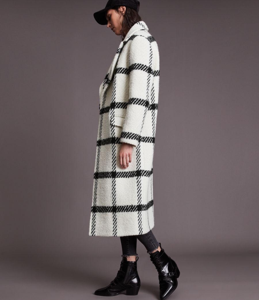Damen Mabel Check Coat (black_white) - Image 6