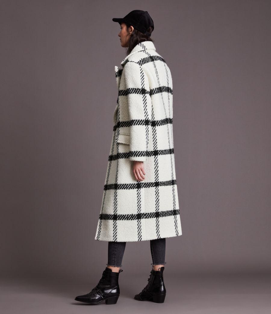 Damen Mabel Check Coat (black_white) - Image 8