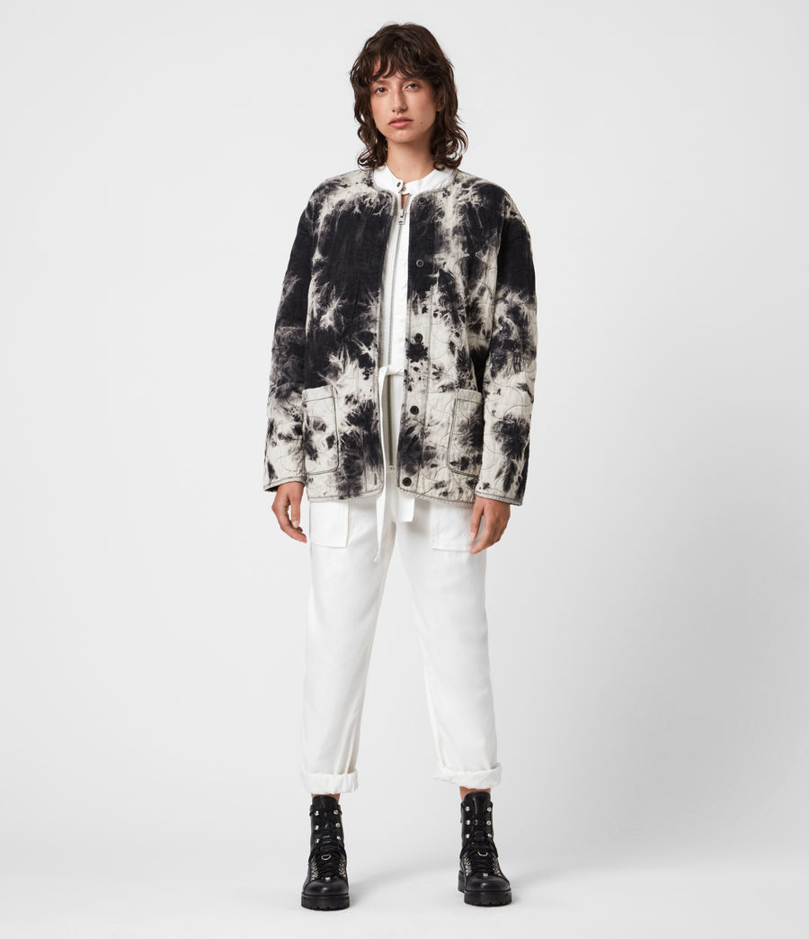 Womens Nora Tie Dye Jacket (black) - Image 1