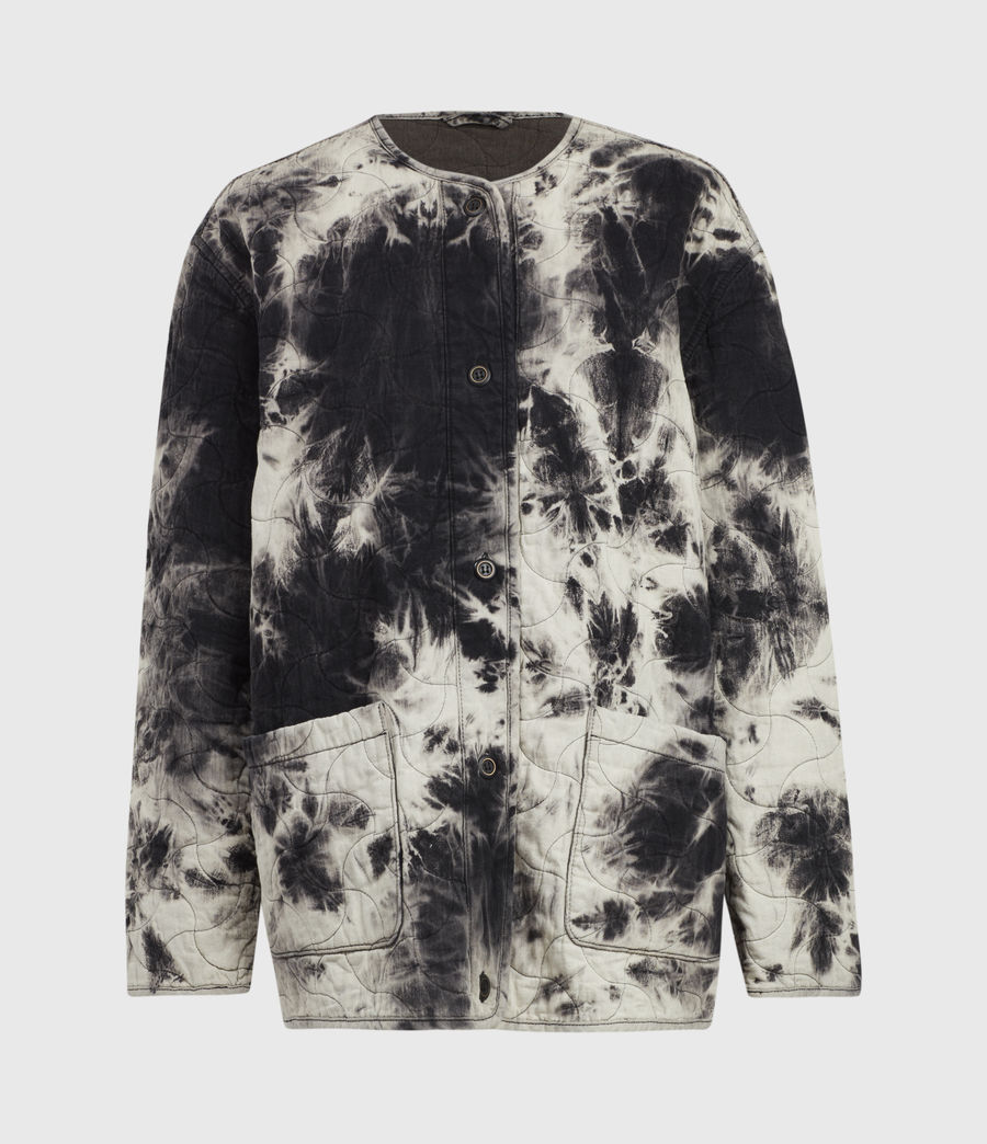 Womens Nora Tie Dye Jacket (black) - Image 2