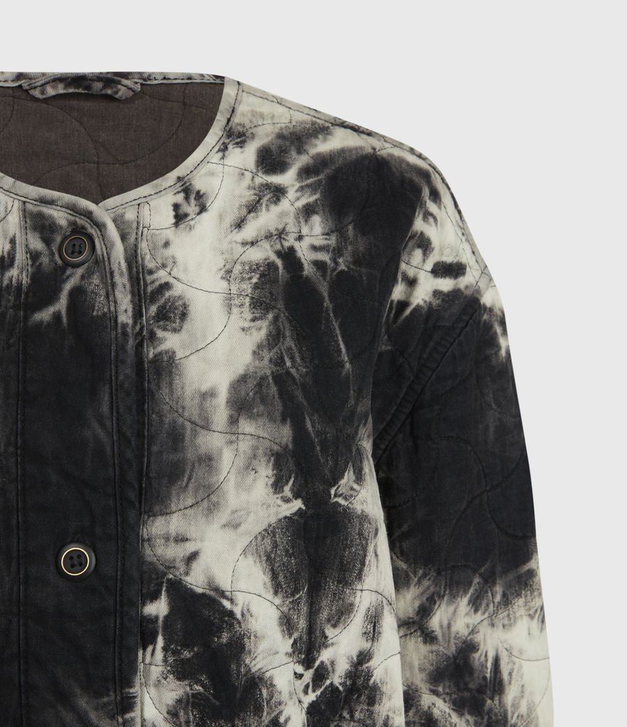 Womens Nora Tie Dye Jacket (black) - Image 4