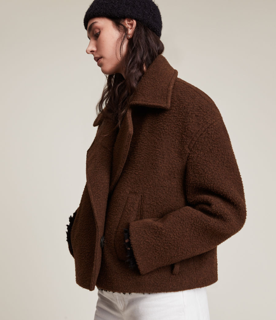 Women's Boston Jacket (brown) - Image 4