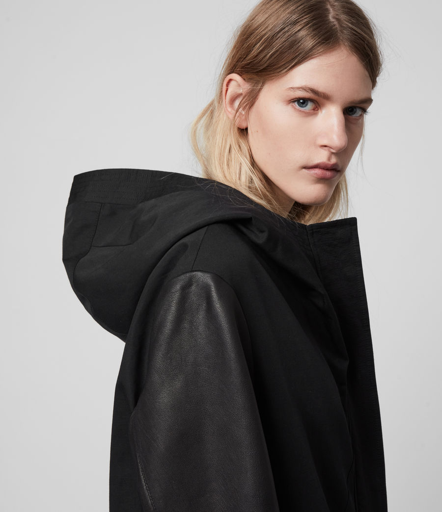 Women's Adler Parka Coat (black) - Image 1