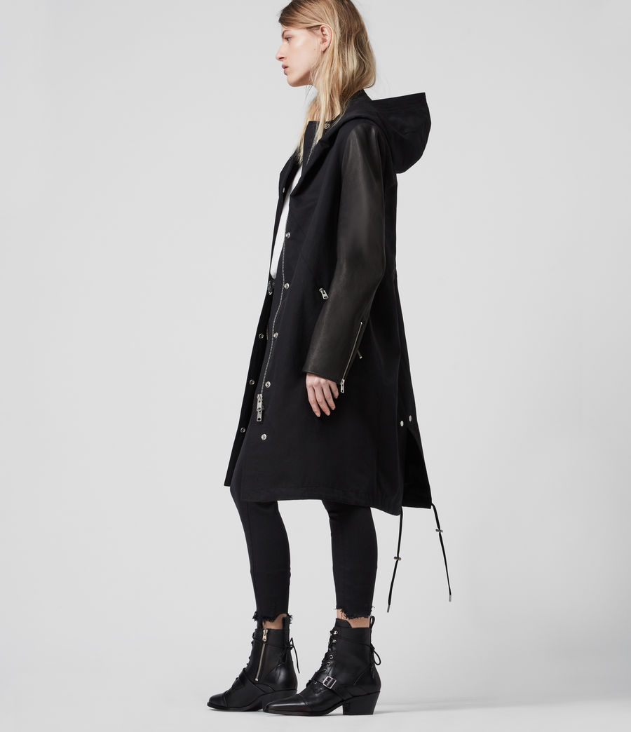Women's Adler Parka Coat (black) - Image 2