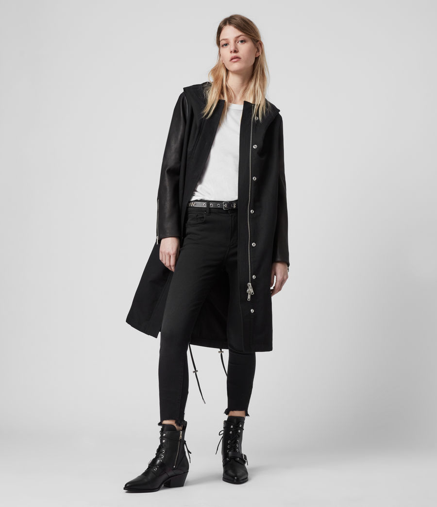 Women's Adler Parka Coat (black) - Image 3