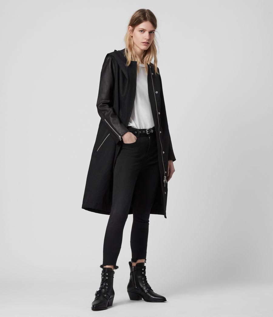 Women's Adler Parka Coat (black) - Image 4