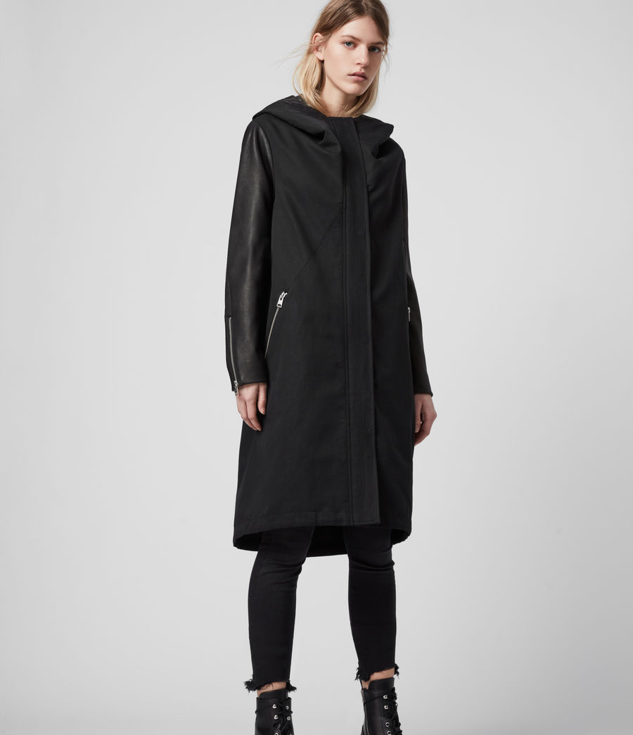Women's Adler Parka Coat (black) - Image 5