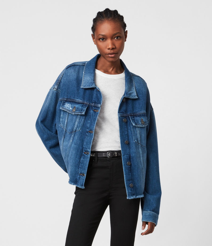 Women's Piper Denim Jacket (mid_indigo) - Image 1