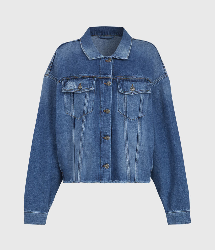 Women's Piper Denim Jacket (mid_indigo) - Image 2