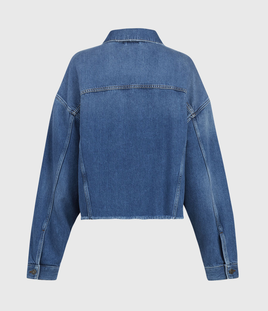 Women's Piper Denim Jacket (mid_indigo) - Image 3