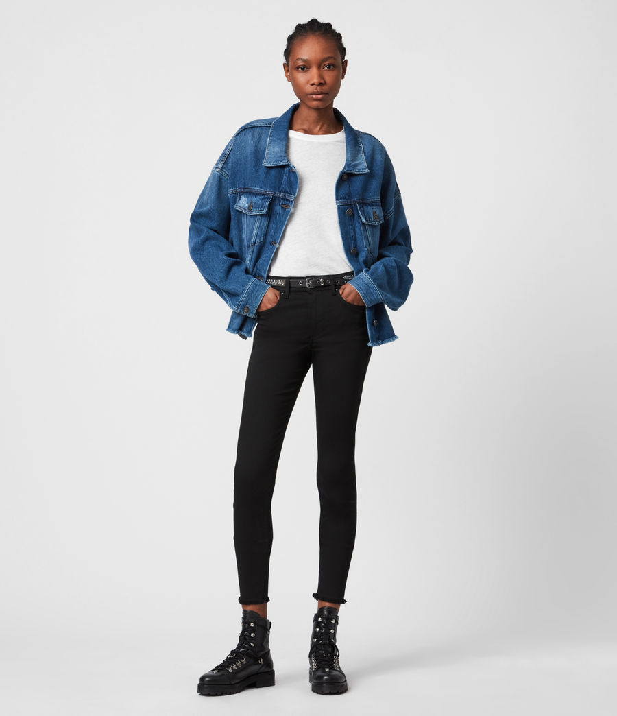 Women's Piper Denim Jacket (mid_indigo) - Image 4
