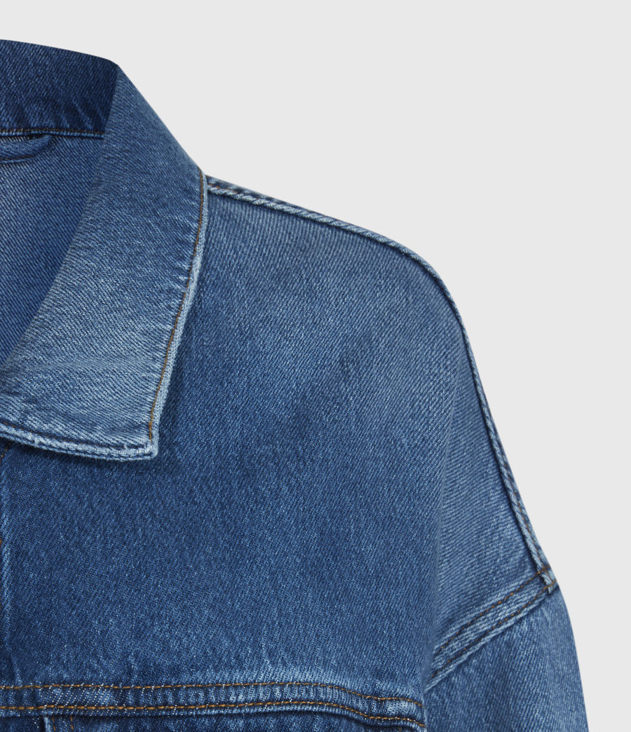 Women's Piper Denim Jacket (mid_indigo) - Image 5
