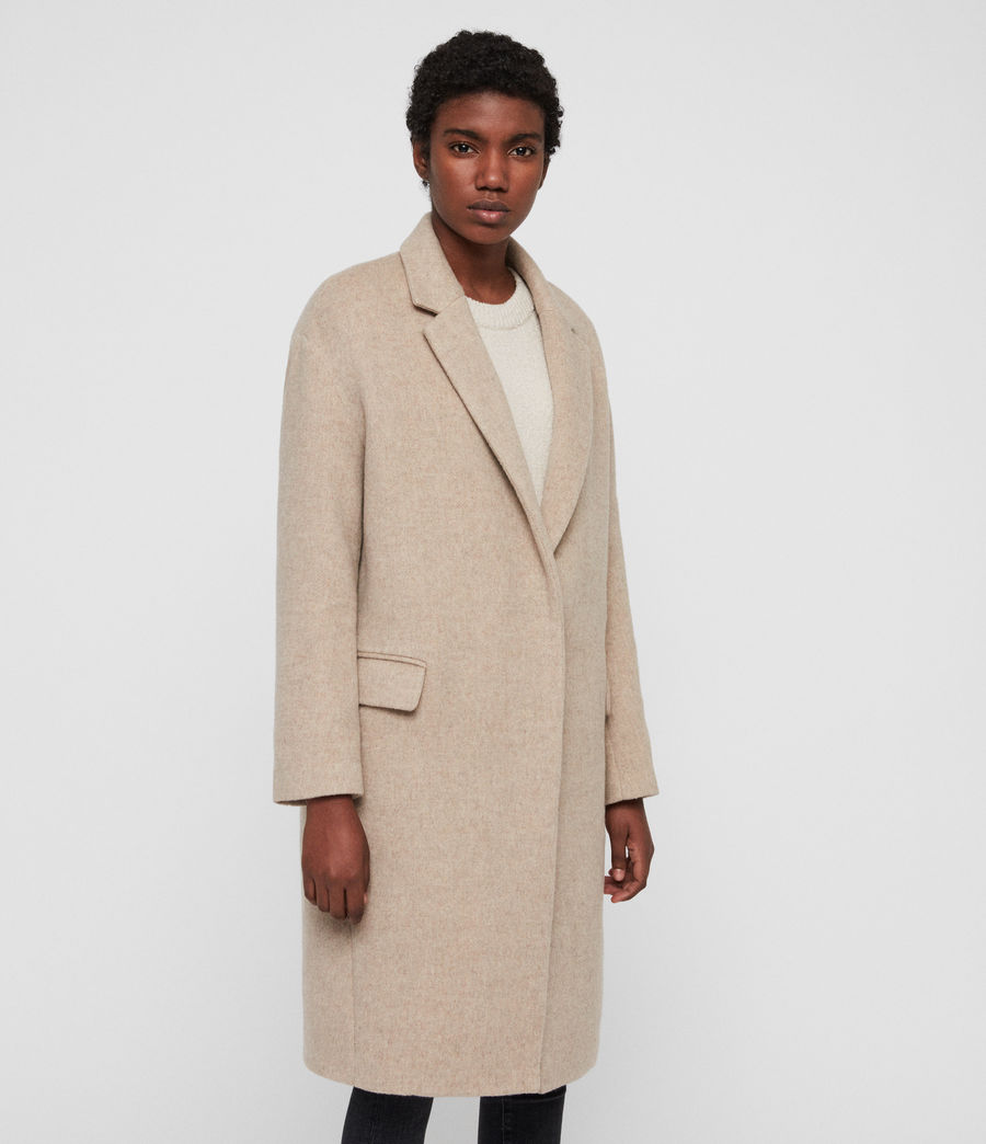 Womens Sancia Comet Coat (sand_brown) - Image 3