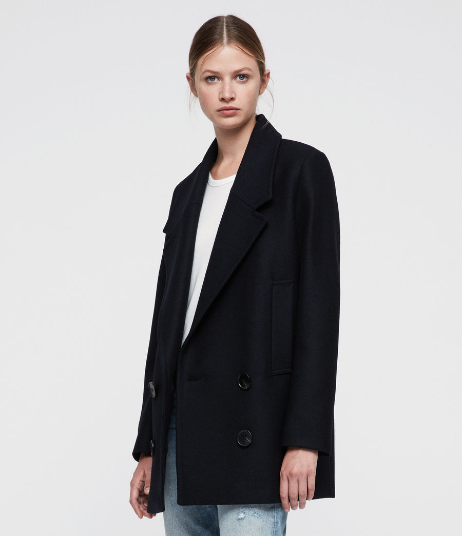 Women's Cecily Coat (ink_blue) - Image 1