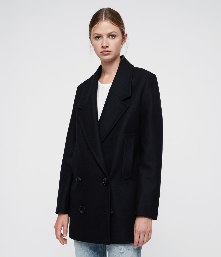 Women's Cecily Coat (ink_blue) - Image 4