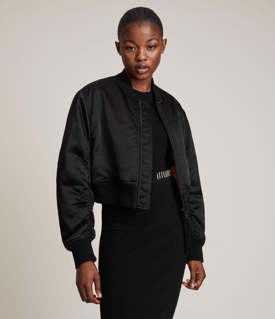 Damen Rhett Bomber Jacket (black) - Image 4