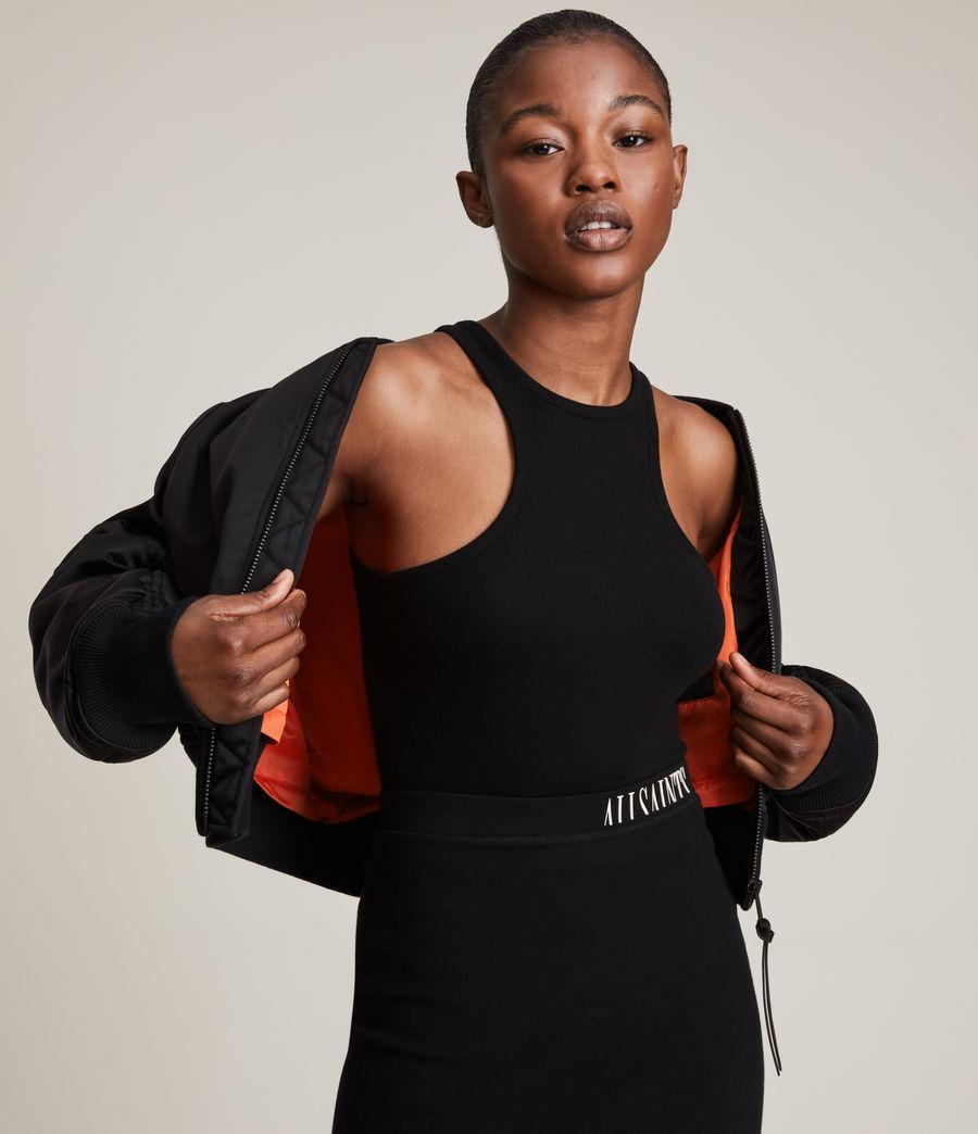 Damen Rhett Bomber Jacket (black) - Image 5