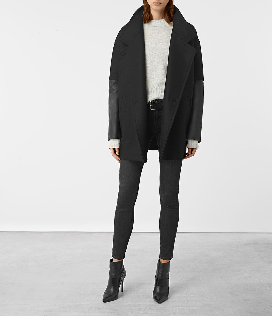 Donne Meade Lea Coat (black) - Image 1