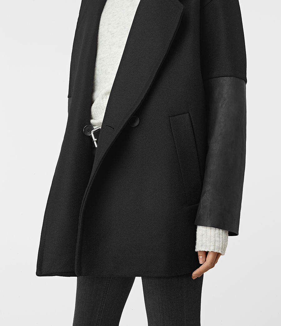 Donne Meade Lea Coat (black) - Image 2