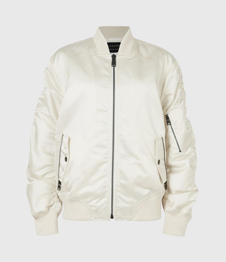 Womens Robin Bomber Jacket (ivory_white) - Image 2