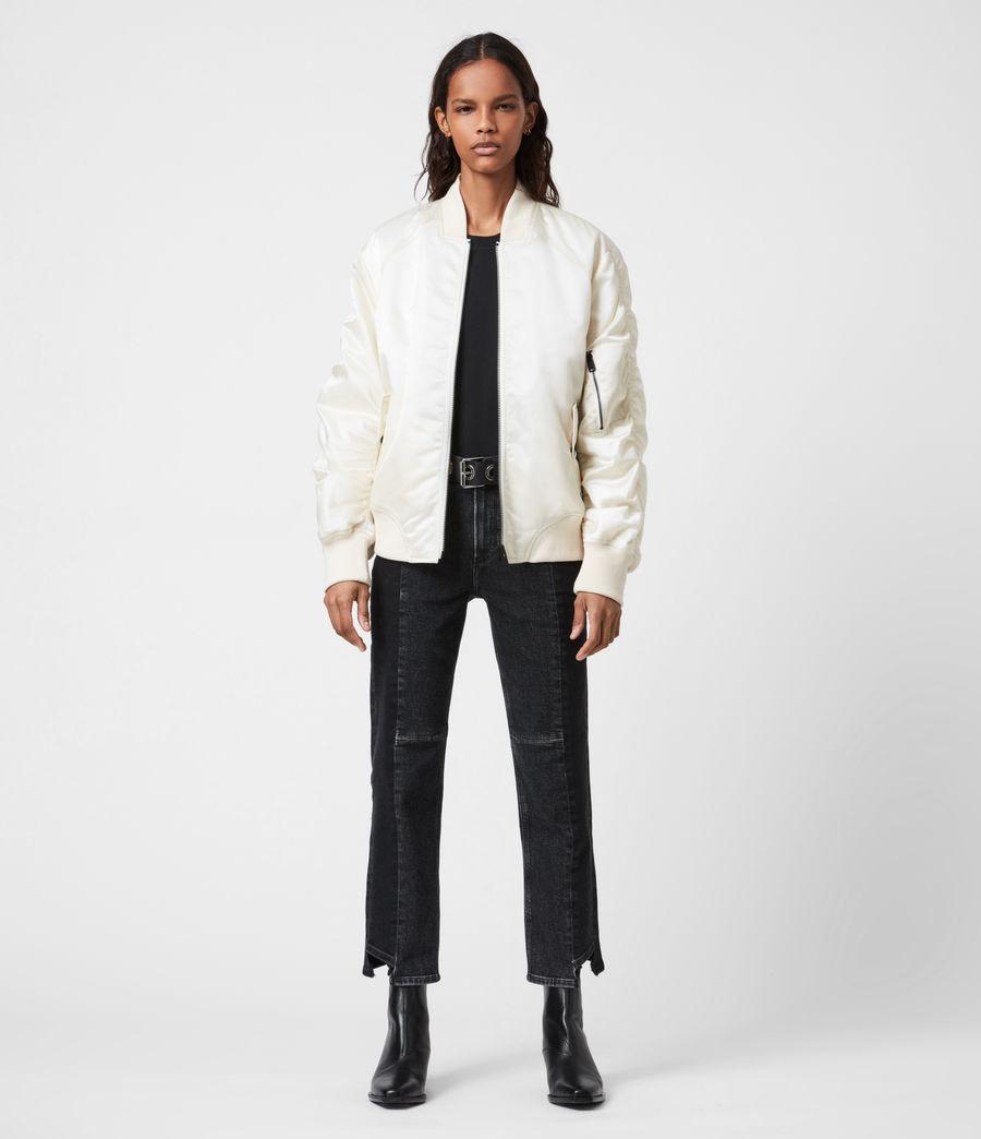 Women's Robin Bomber Jacket (ivory_white) - Image 4