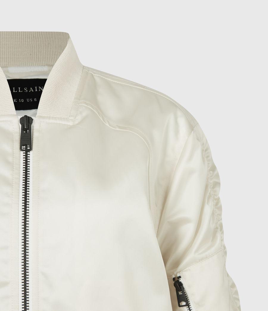 Women's Robin Bomber Jacket (ivory_white) - Image 5