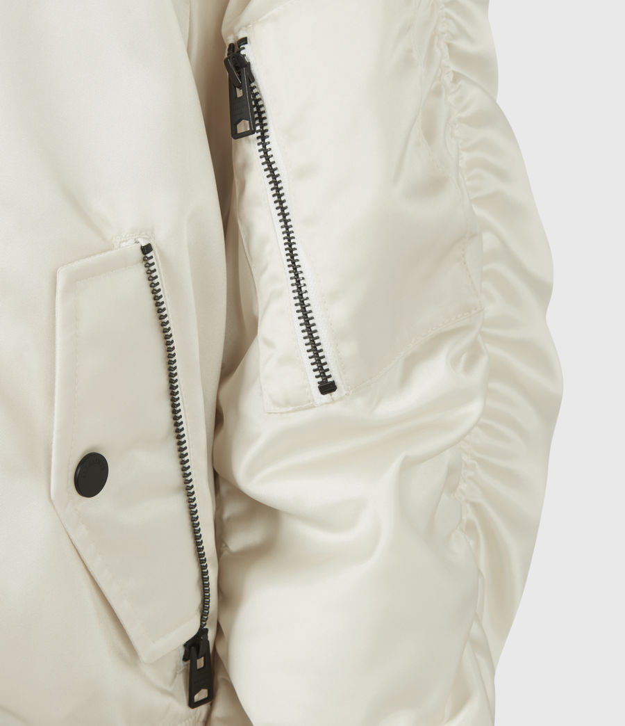 Women's Robin Bomber Jacket (ivory_white) - Image 6