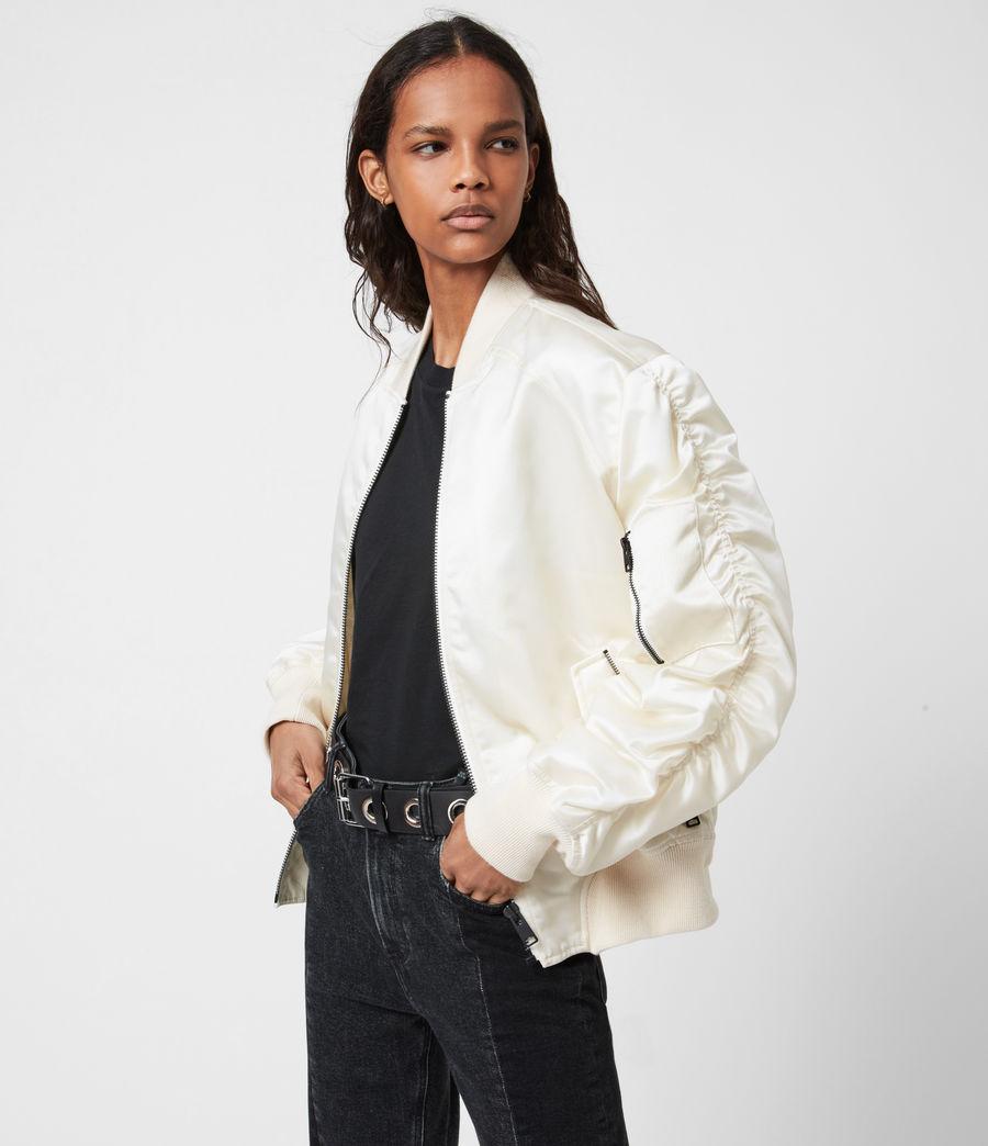 Women's Robin Bomber Jacket (ivory_white) - Image 7