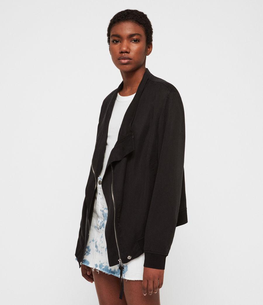 Women's Skye Parka Bomber Jacket (black) - Image 2