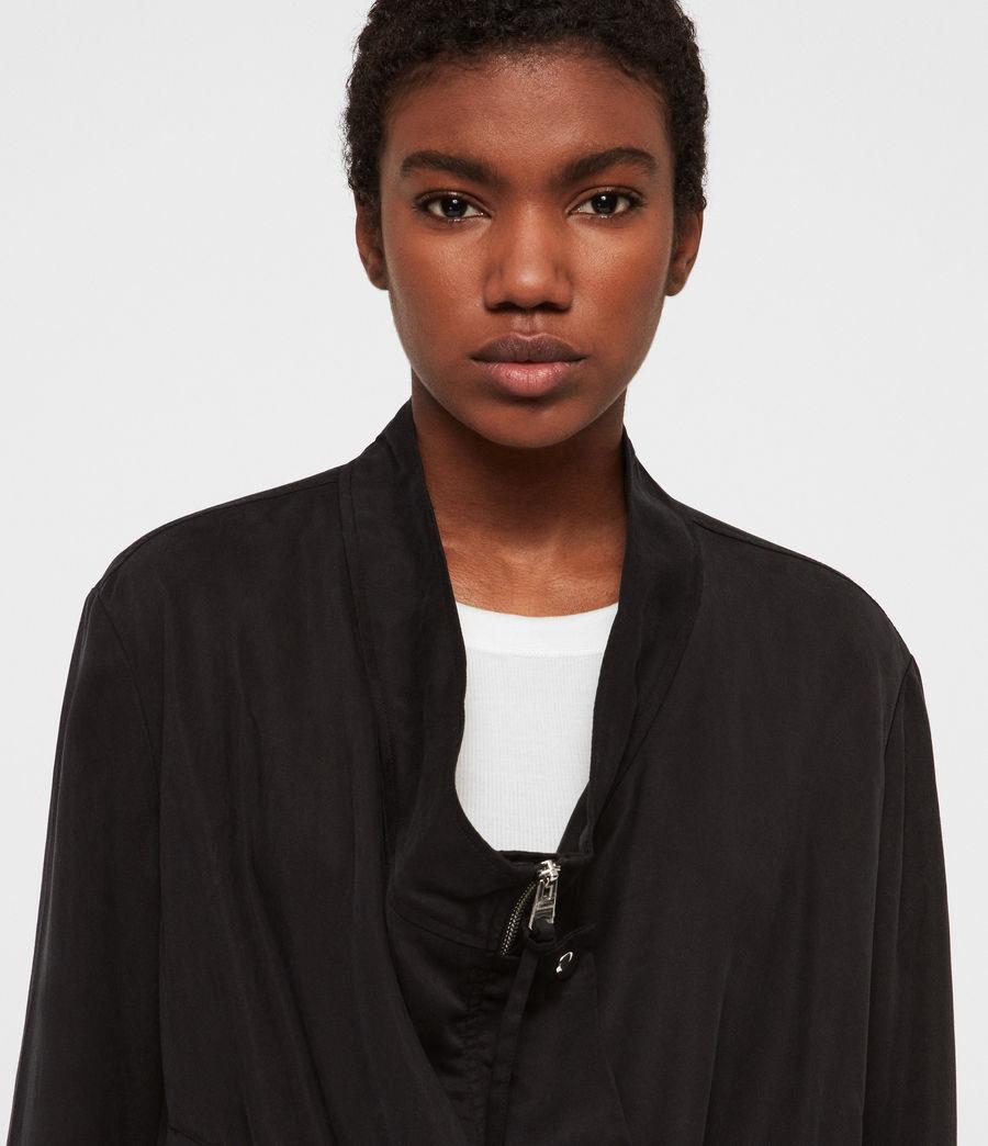 Women's Skye Parka Bomber Jacket (black) - Image 3