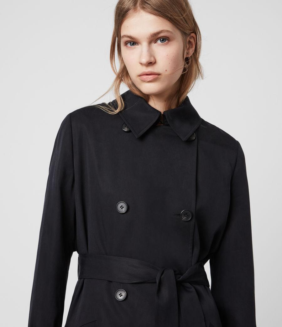 Womens Harlen Trench Coat (ink_blue) - Image 5