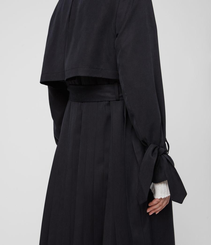 Womens Harlen Trench Coat (ink_blue) - Image 6