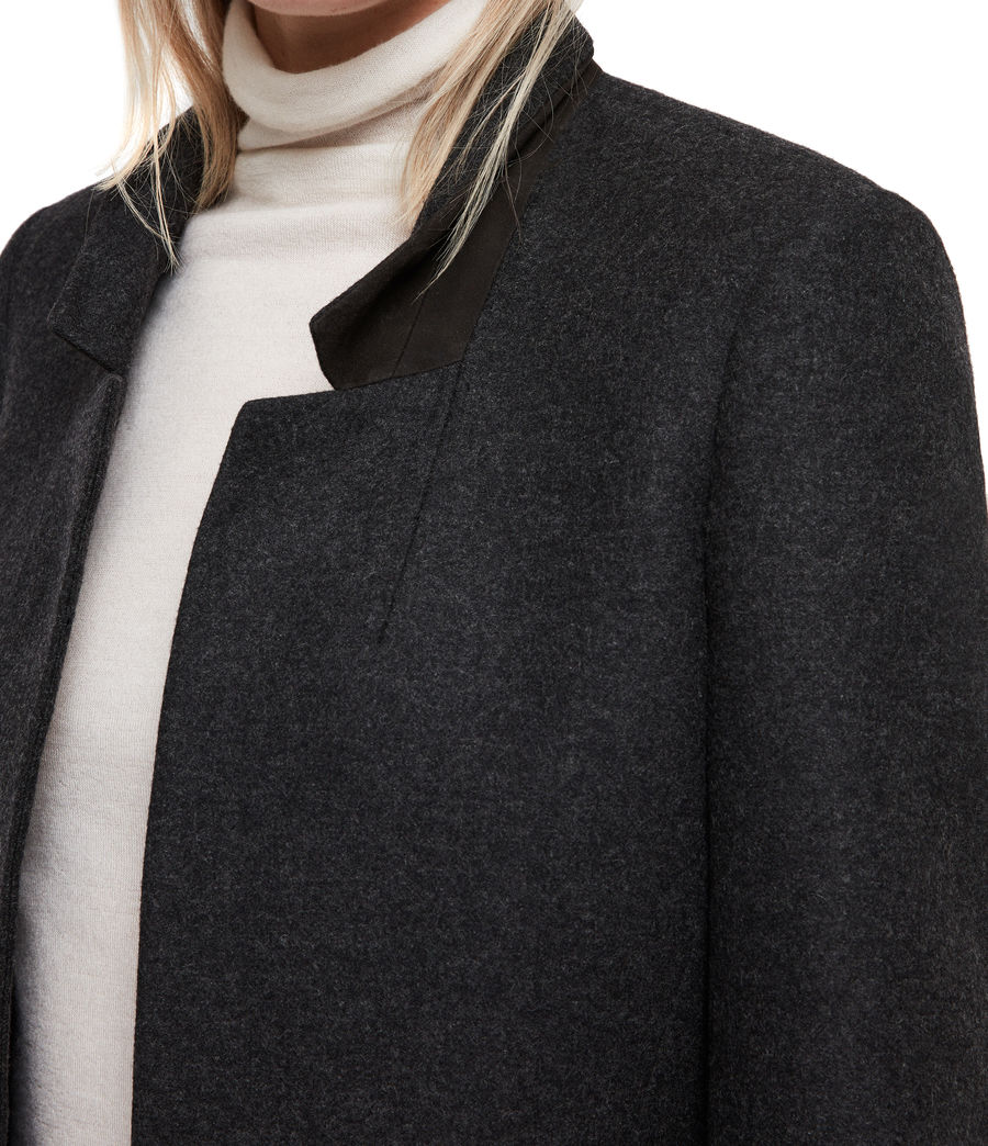 Womens Lyla Coat (charcoal_grey) - Image 2