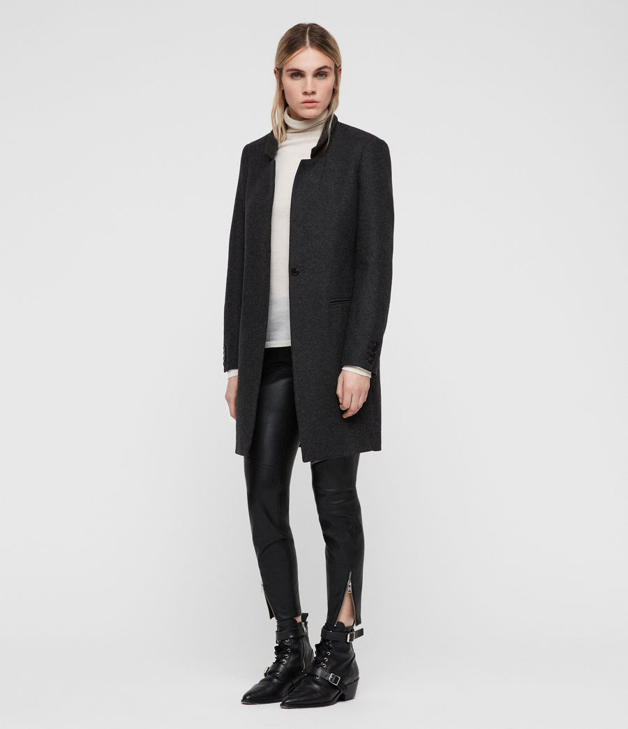 Women's Lyla Coat (charcoal_grey) - Image 3