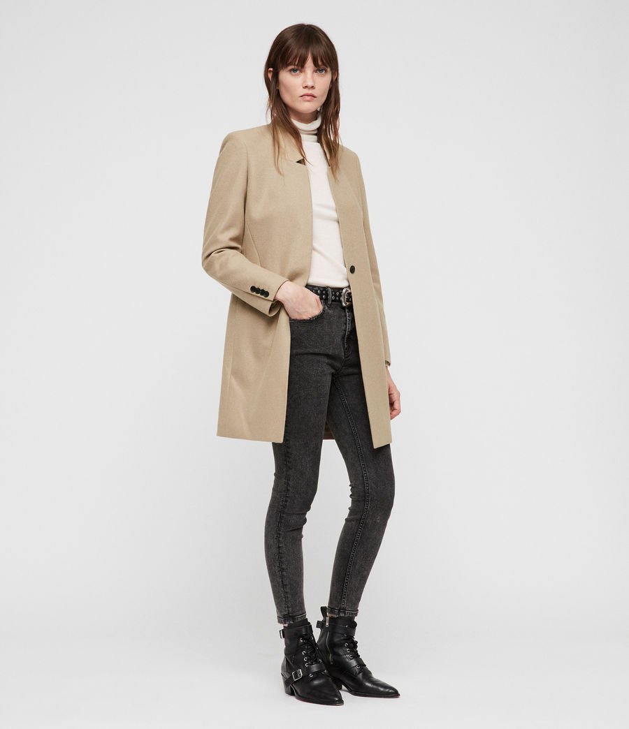 Women's Lyla Coat (light_tan_brown) - Image 3